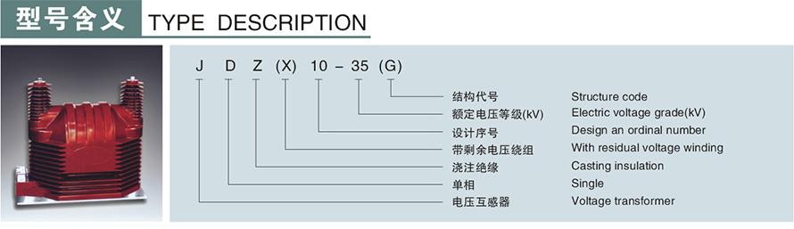 JDZ(X)10-35(G)型电压u赢电竞返现型号说明