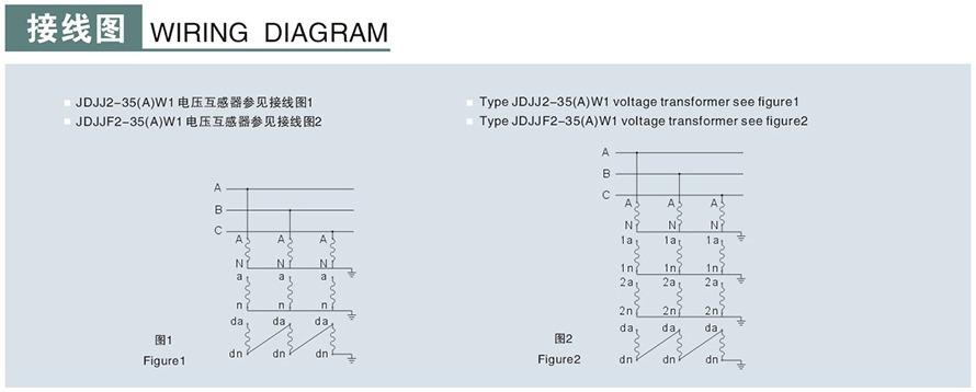 JDJJ2-35/JDJJ2-35GYW1/JDJJ2-35GYW2型电压u赢电竞返现接线图